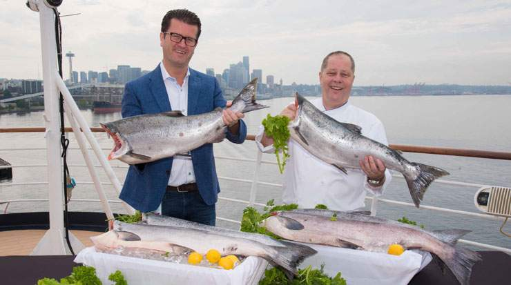 Holland America Line's culinary team created dishes featuring Copper River king salmon using seasonal ingredients