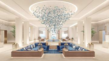 Bahrain's pearl trading tradition has inspired the resort's interior design