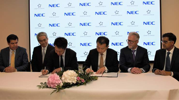 Signing of partnership agreement to develop a biometric data-based identification platform
