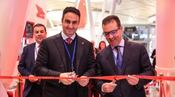 El-Houry with Youssef Jroundi, director, sales and marketing, ONDA inaugurating the NAS Pearl Lounge in Marrakech