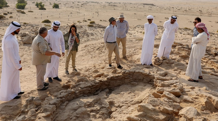 Excavation trenches at Marawah Island