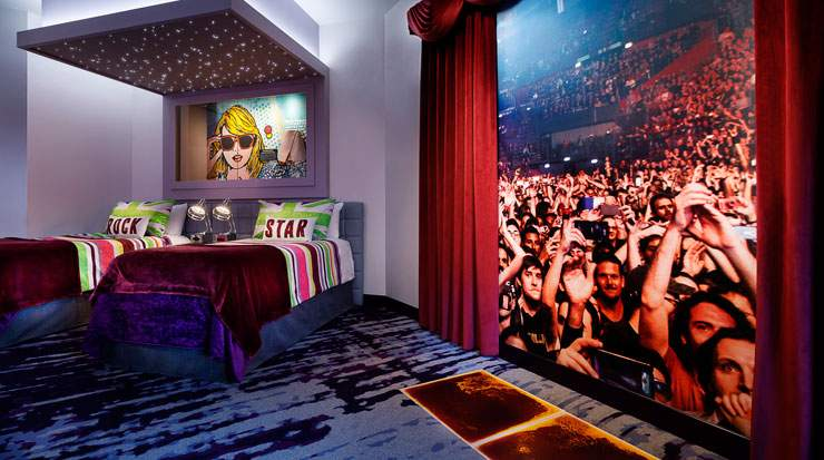 The suites are designed to provide everything a rock star would need to put on an unforgettable show
