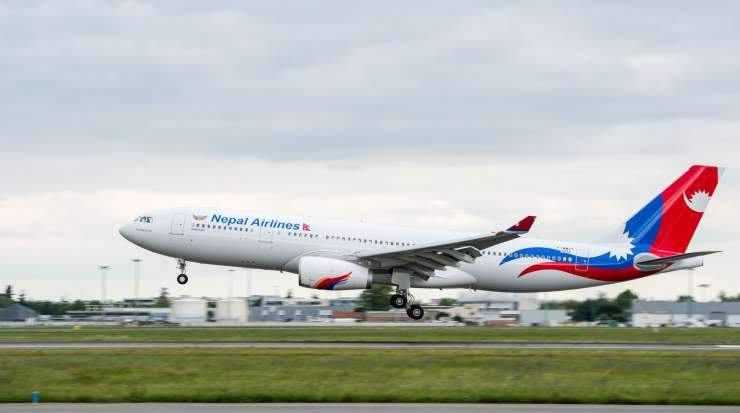 The first of two Airbus A330s to be loaned from Hi  Fly has been delivered to Nepal Airlines