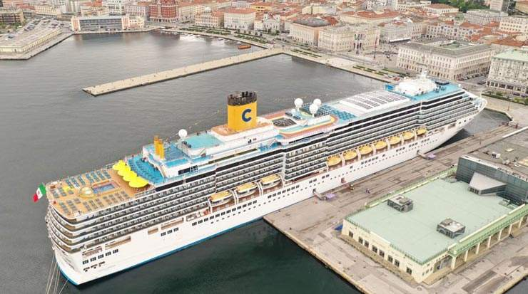 Costa Luminosa Restarts from Trieste with Cruises in the Adriatic and Greece
