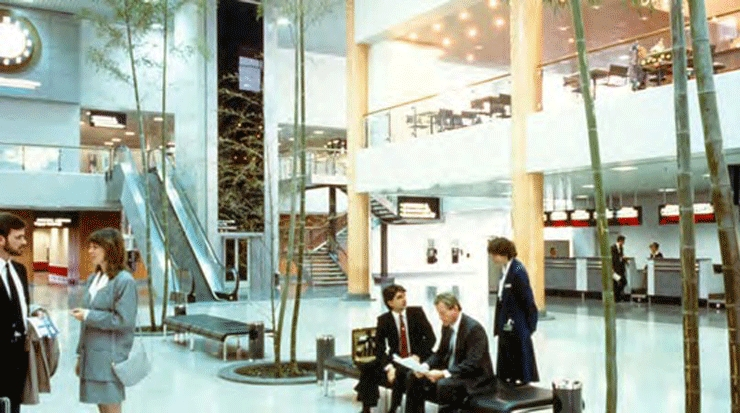 The original check-in area of the passenger terminal in 1987