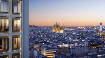 The 20-storey tower will provide panoramic views overlooking Barcelona's landmarks