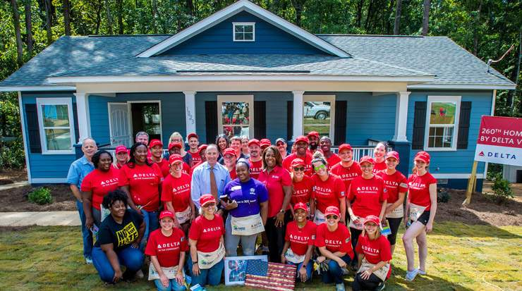 Delta and Habitat for Humanity build homes
