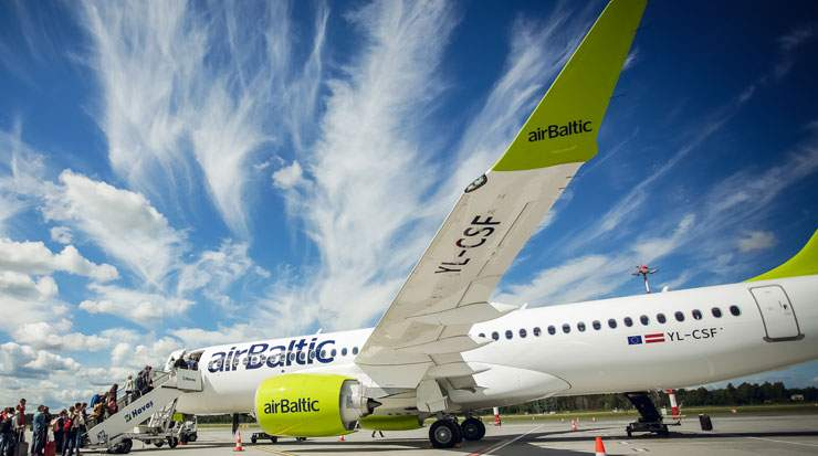 airBaltic serves over 60 destinations from its Riga base