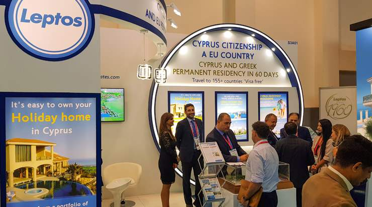 Leptos Estates in the Cityscape Global 2018 Exhibition in Dubai