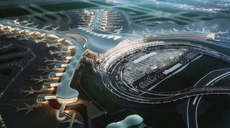 Abu Dhabi is constructing a mega midfield terminal to handle up to 84 million passengers per year