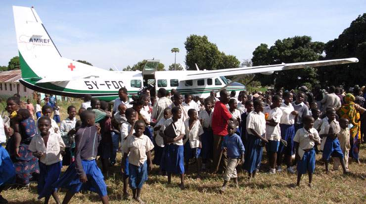 Passengers at Amsterdam Airport Schiphol have been donating to Amref Flying Doctors