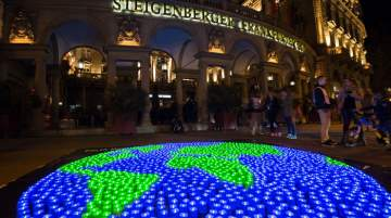 Steigenberger Frankfurter Hof's Earth Hour Party is due to have a special dance floor, generating light through dance moves