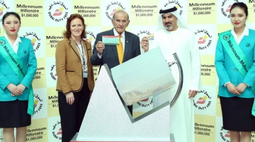 Dubai Duty Free Millennium Millionaire Winner Receives USD1 million