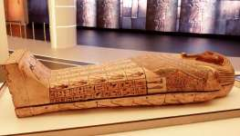 Ancient Pharaonic Coffin Displayed in Egypt Pavilion at Dubai Expo 2020